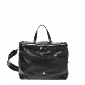 Černý ruksak z hlazené kůže