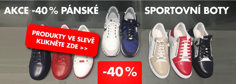 Akce -40 % na pánské sportovní boty
