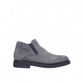 Šedé semišové kotníkové boty Baldinini