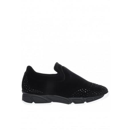 Černé sametové boty