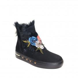 Černé kotníkové boty Baldinini